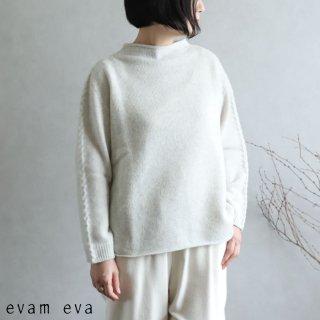 evam eva(エヴァム エヴァ) 【2020aw新作】ウールキャメル ハイネックプルオーバー / high necked pullover light gray(82)  E203K098