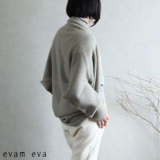 evam eva(エヴァム エヴァ) 【2020aw新作】ウールキャメル ボレロ / wool camel bolero sage(52)  E203K100