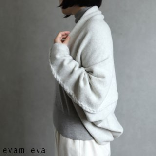 evam eva(エヴァム エヴァ) 【2020aw新作】ウールキャメル ボレロ / wool camel bolero light gray(82)  E203K100
