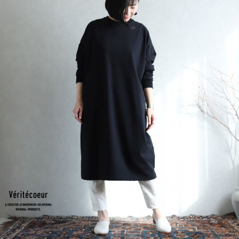 Veritecoeur(ヴェリテクール)【2020AW新作】天竺チュニック BLACK / VCC-361