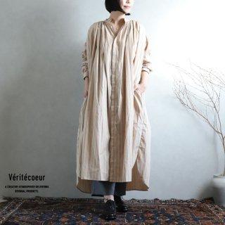 Veritecoeur(ヴェリテクール)【2020AW新作】ストライプワンピース BEIGE.ST / VC-2218
