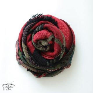 tamaki niime 玉木新雌 roots shawl wool middle RSM_W123/ ルーツショール ウール70% コットン30% ミドルサイズ