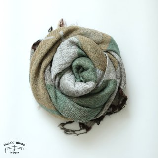 tamaki niime 玉木新雌 roots shawl wool middle RSM_W122/ ルーツショール ウール70% コットン30% ミドルサイズ