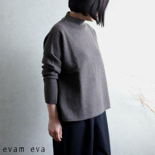 evam eva(エヴァム エヴァ) 【2020aw新作】ウールアンゴラ ハイネックプルオーバー / high necked pullover winter leaf(48) E203K118