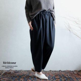 Veritecoeur(ヴェリテクール)【2020AW新作】ウール混パンツ BLACK / VC-2219