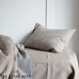 【2枚までゆうパケット可】fog linen work(フォグリネンワーク) リネンピローケース ナチュラル / LINEN PILLOW CASE NATURAL 枕カバー LKC001-TC19