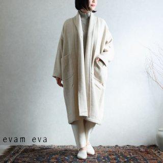 evam eva(エヴァム エヴァ) 【2020aw新作】ロングローブ コート / long robe coat ivory(05)  E203T126