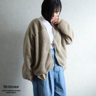 Veritecoeur(ヴェリテクール)【2020AW新作】ボアフリース ジャケット BEIGE / VCC-365
