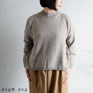 evam eva(エヴァム エヴァ) 【2020aw新作】ソフトカシミヤ プルオーバー / soft cashmere pullover mocha(44)  E203K090