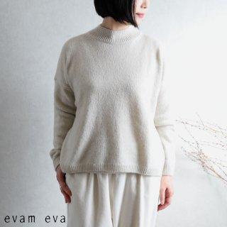 evam eva(エヴァム エヴァ) 【2020aw新作】ソフトカシミヤ プルオーバー / soft cashmere pullover ivory(05)  E203K090