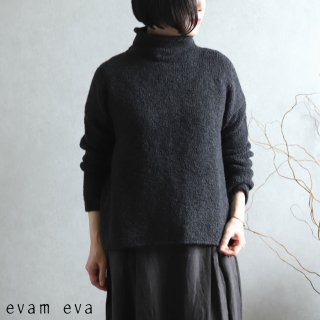 evam eva(エヴァム エヴァ) 【2020aw新作】ローゲージ タートルネック / low gauge turtleneck charcoal(89)  E203K132