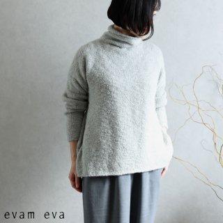 evam eva(エヴァム エヴァ) 【2020aw新作】ローゲージ タートルネック / low gauge turtleneck light gray(82)  E203K132