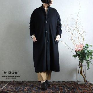Veritecoeur(ヴェリテクール)【2020AW新作】ウールカシミヤ コート BLACK / VC-2236