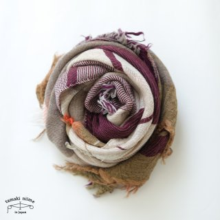 tamaki niime 玉木新雌 roots shawl wool middle RSM_W127/ ルーツショール ウール70% コットン30% ミドルサイズ