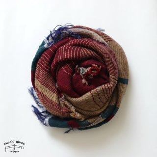 tamaki niime 玉木新雌 roots shawl wool middle RSM_W128/ ルーツショール ウール70% コットン30% ミドルサイズ