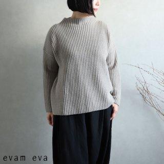 evam eva(エヴァム エヴァ) 【2020aw新作】ソフトウールハイネックプルオーバー / soft wool high necked pullover grege(14)  E203K192