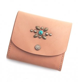 STUDS MINI WALLET / NATURAL