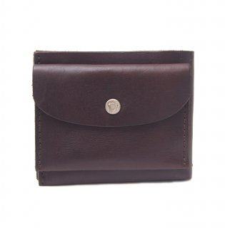 SIMPLE SHORT WALLET / DK BROWN