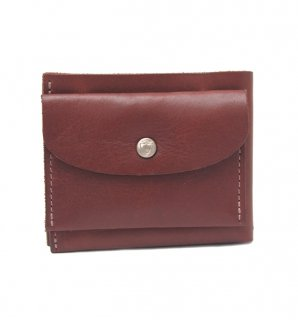 SIMPLE SHORT WALLET / BROWN