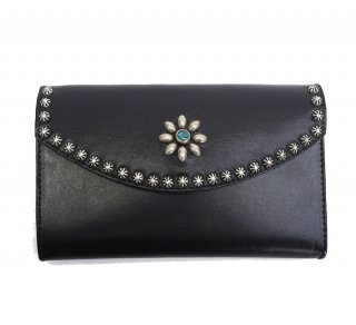 UMBRELLA STUDS LONG WALLET / BLACK