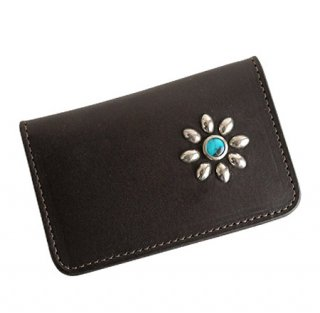 Card case / Dark Brown × Silver