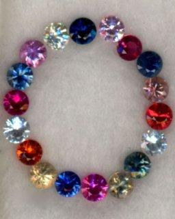 マルチカラー サファイヤ2.80mmダイヤカット25621いしや宝石