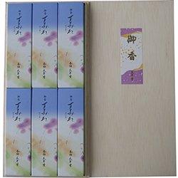 香舗天年堂 進物用線香 「木箱 すみれ 6入」
