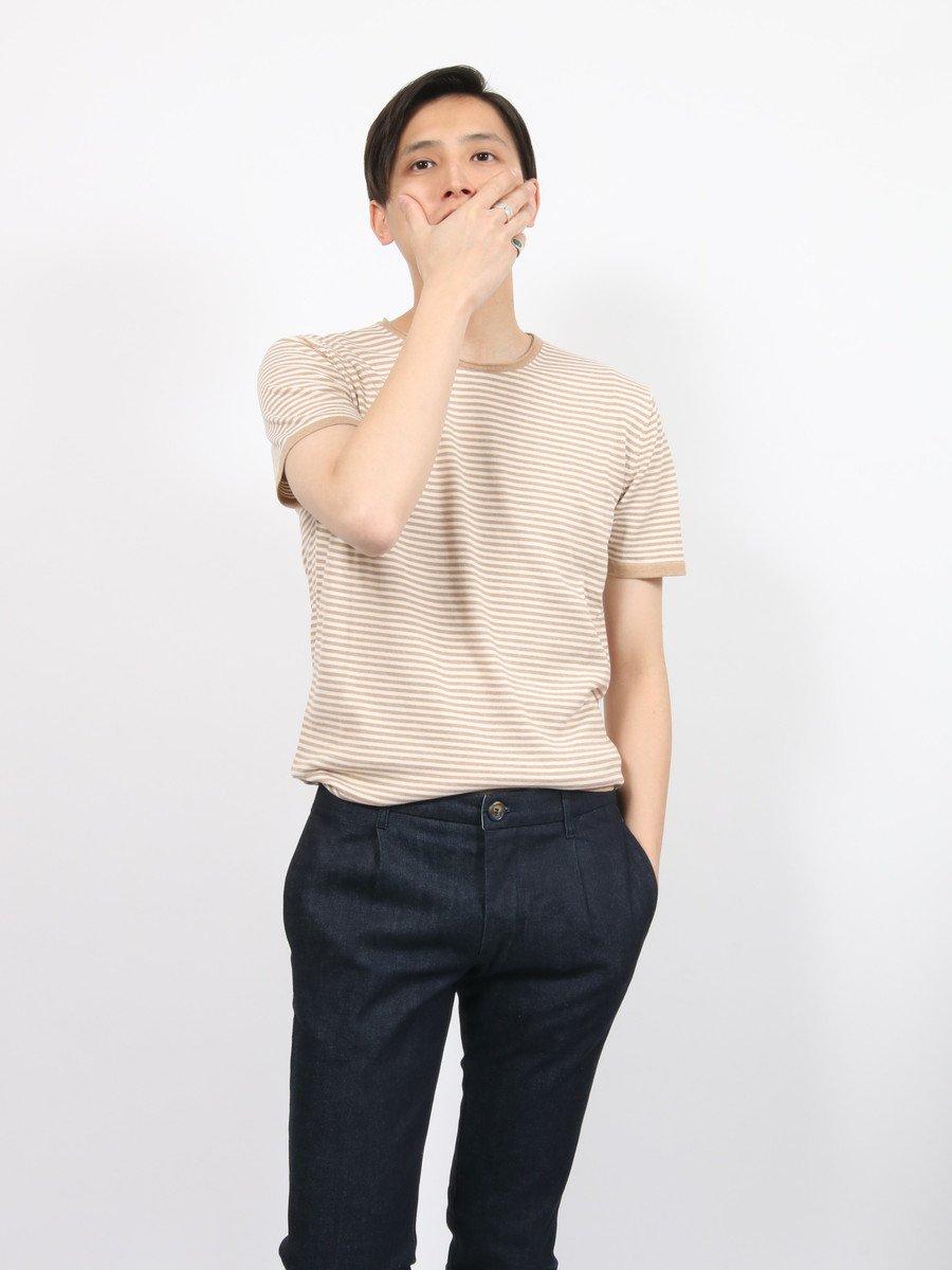 【DANIELE FIESOLI】<br>ボーダーニットTシャツ