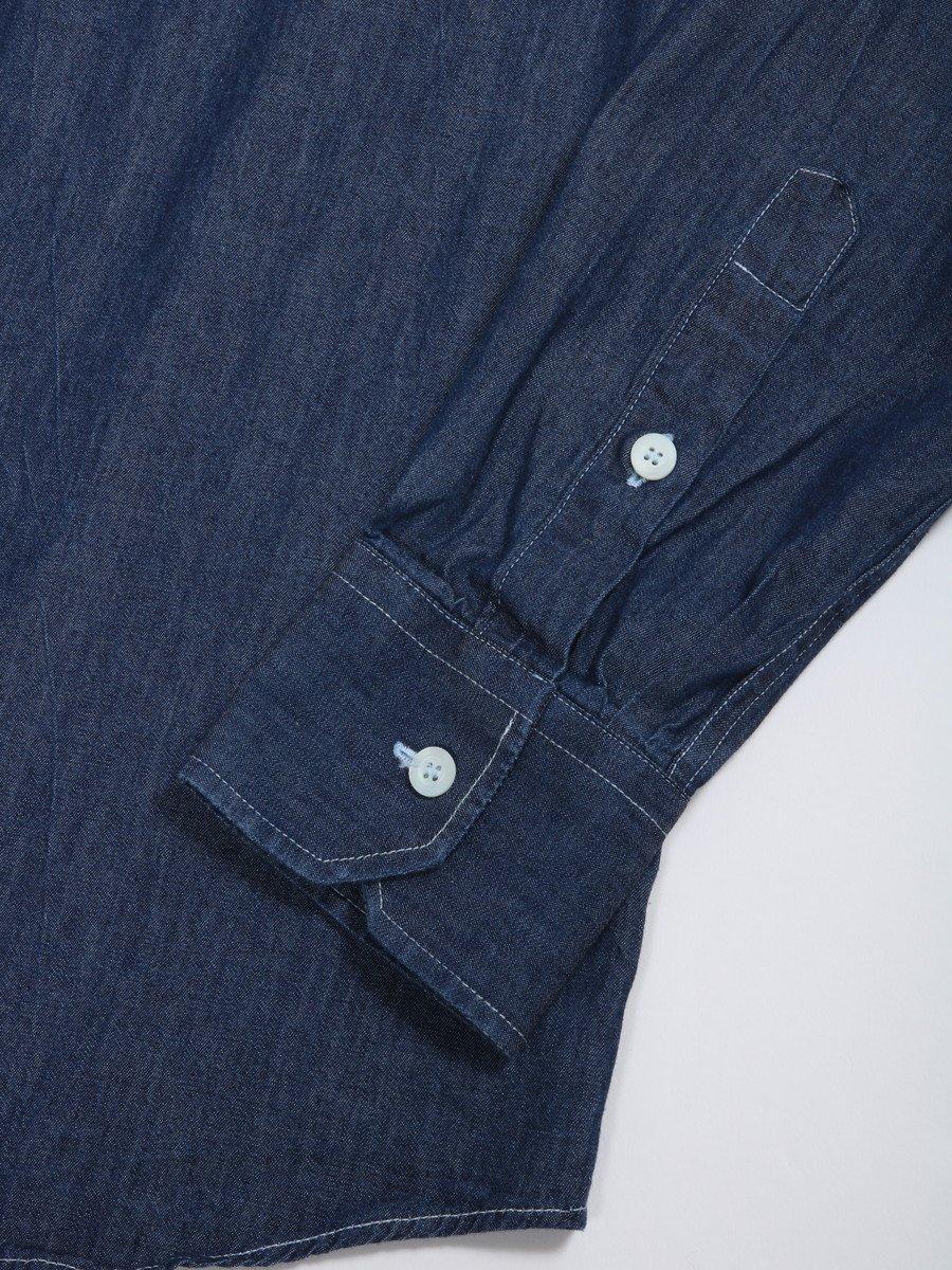 【NAKED】シャンブレープルオーバーシャツ