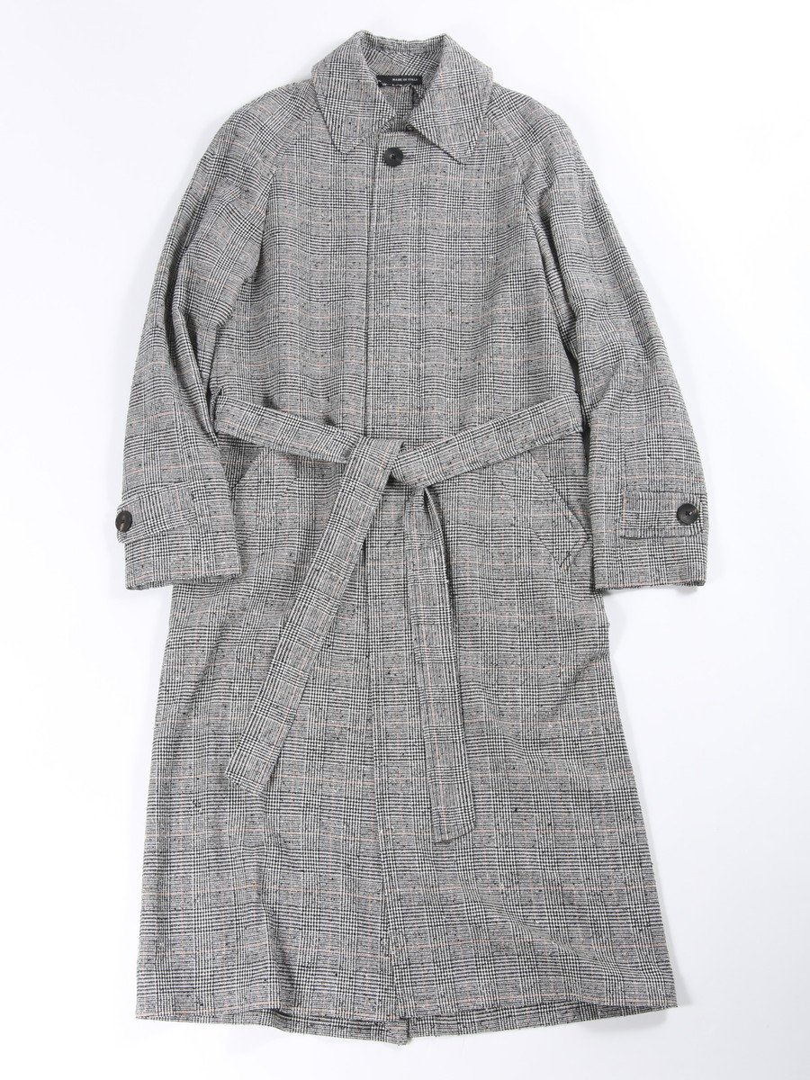 【RUSSI】グレンチェックステンカラーコート