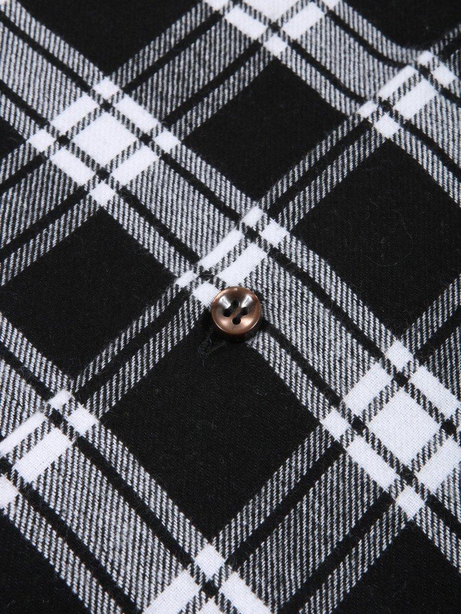 【MASSIMO LA PORTA】ツイルチェックボタンダウンシャツ