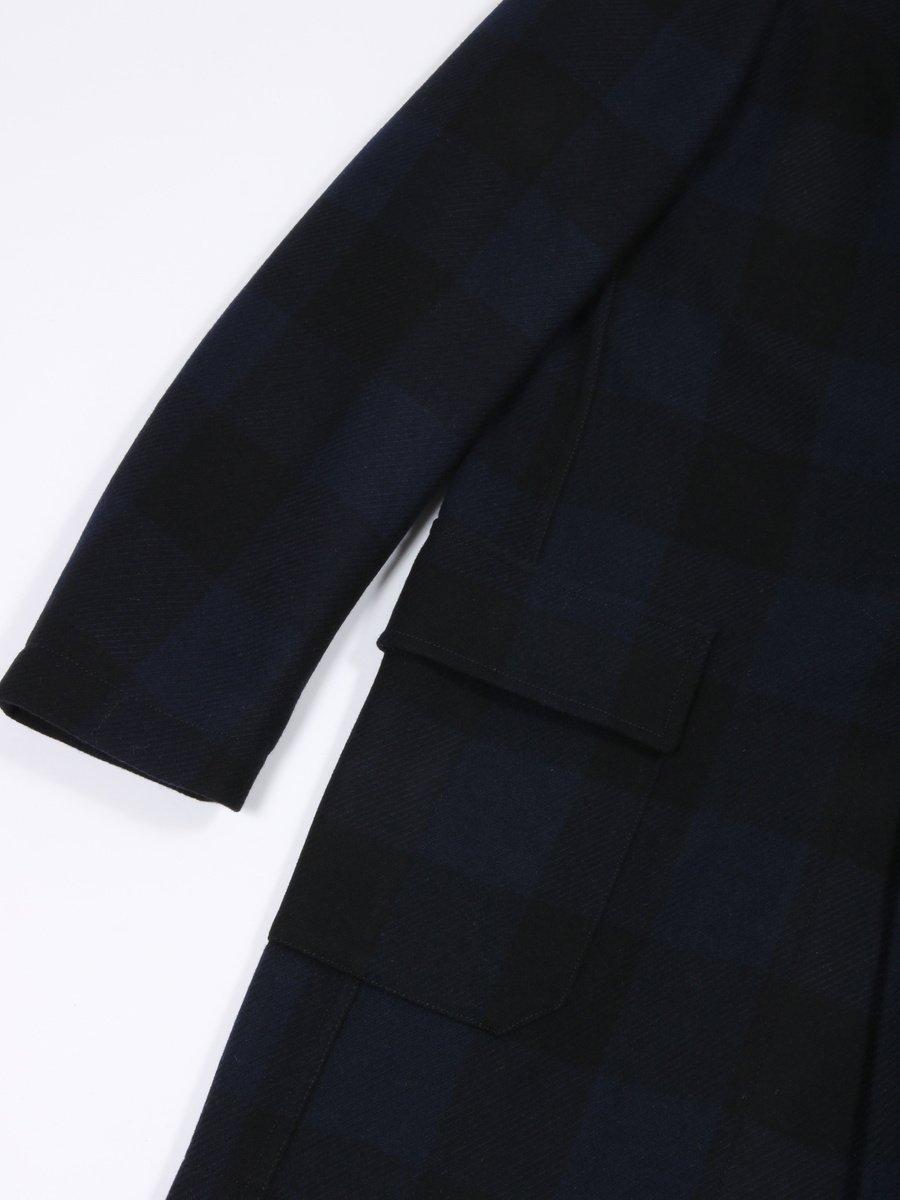 【T-JACKET】バッファローチェックダッフルコート