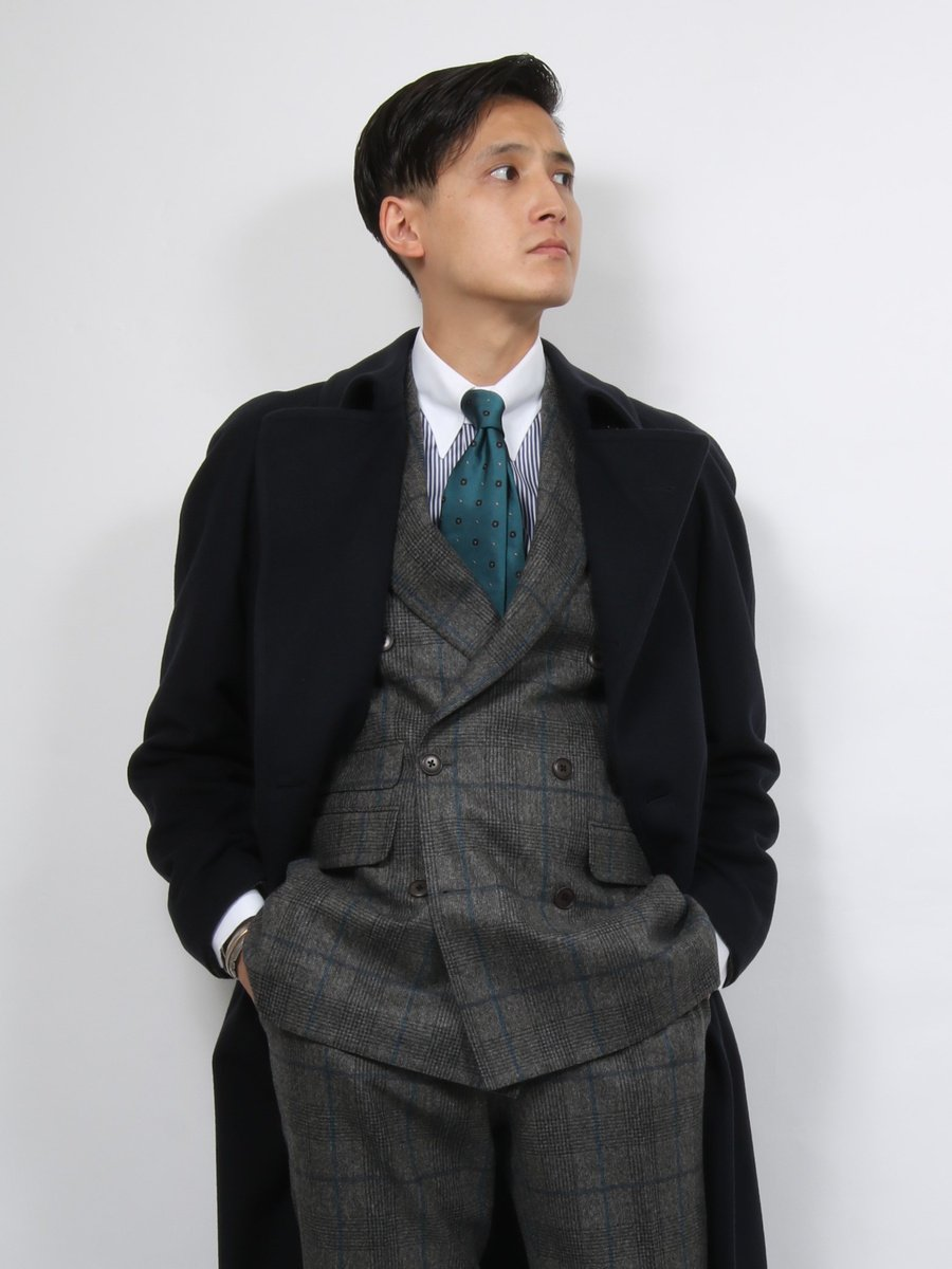 【Cento trenta】ジャガードタイ 小紋柄小