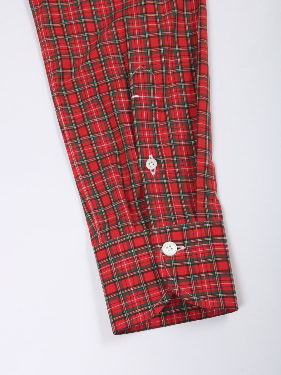 【Fralbo】タータンチェックボタンダウンシャツ