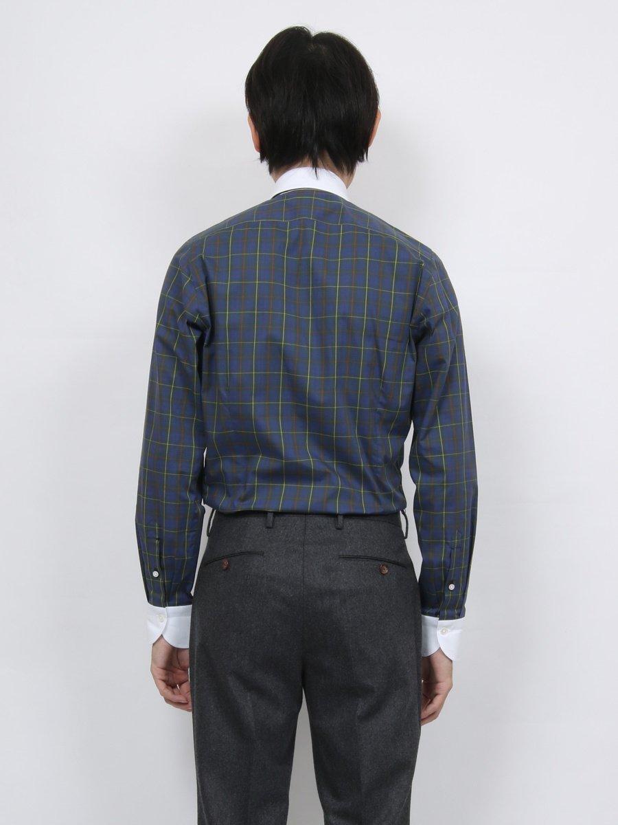 【Fralbo】タータンチェッククレリックシャツ