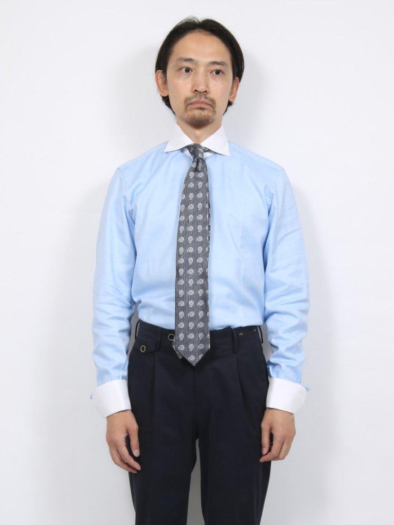 【MASSIMO LA PORTA】ダブルカフスクレリックシャツ