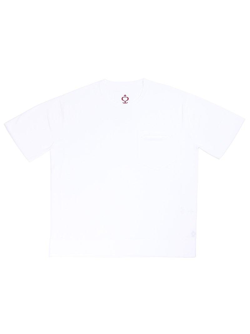 【SIDE SLOPE】ハイツイストコットン クルーネックニットTシャツ