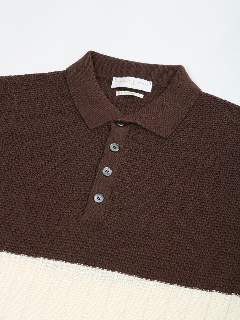 【DANIELE FIESOLI】バイカラーポロシャツ