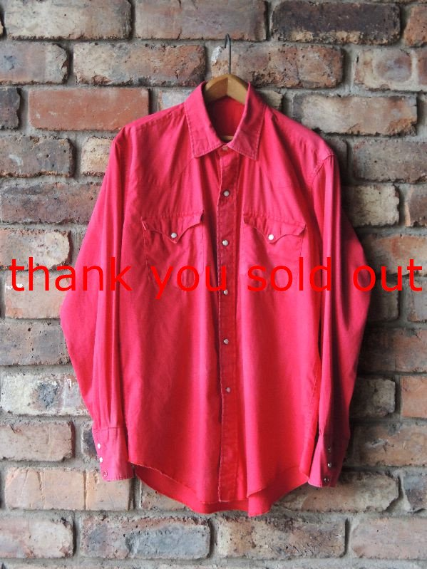 60's Unknown light cotton western shirt