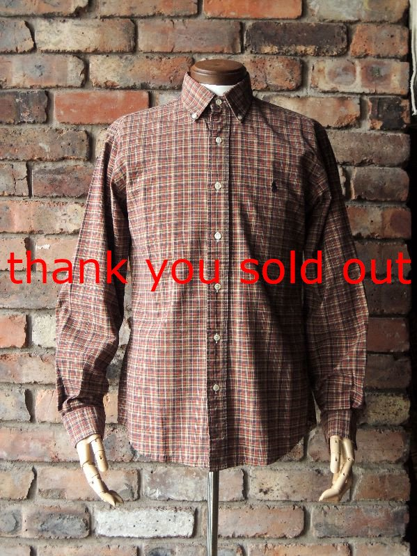 Ralph Lauren Cotton B/D check shirt sizeM