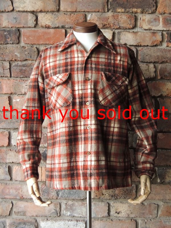 70's Pendleton Wool Check O/C Shirt sizeM