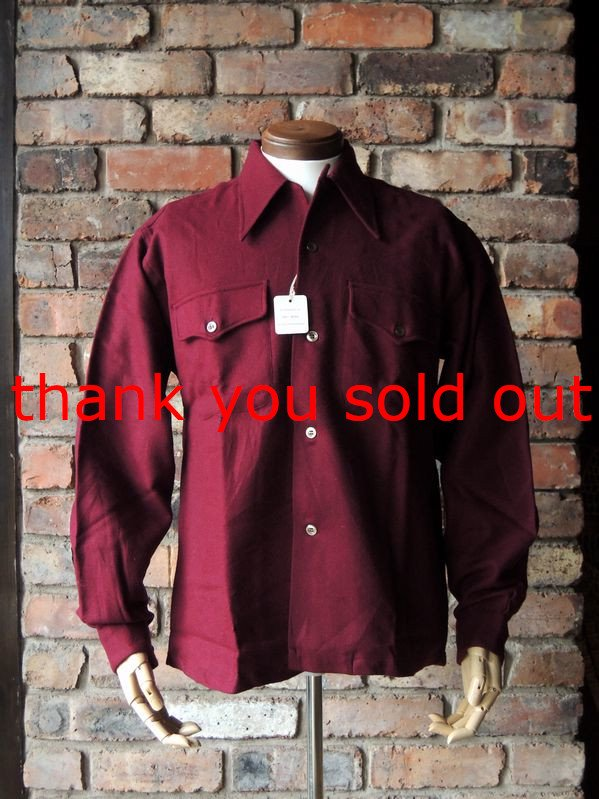 40's50's Airman Wool O/C shirt Dead Stock size15 1/2
