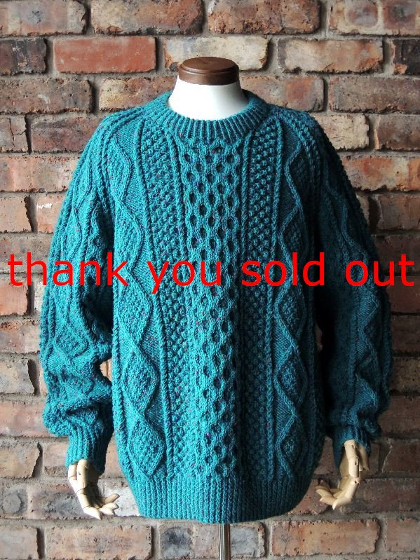 Quills Woollen Market Fisherman Aran knit color sweater