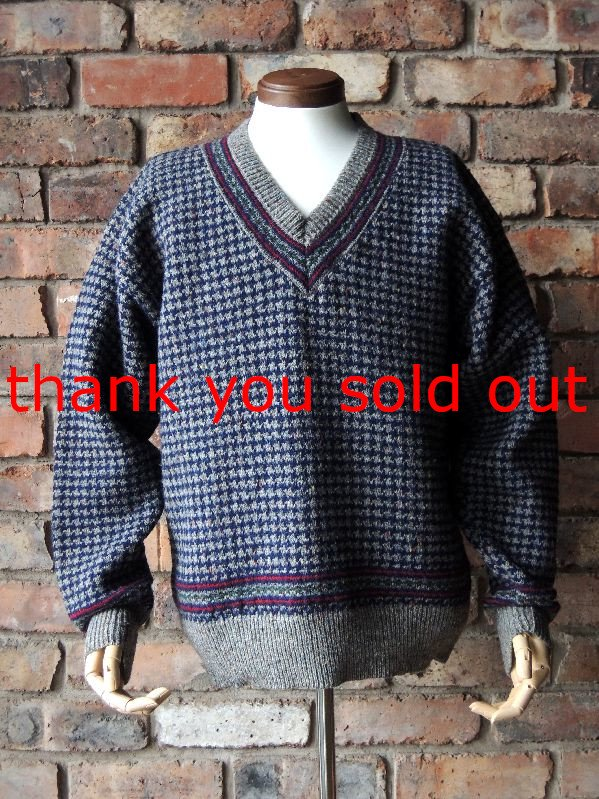 60's Pendleton Wool knit Vneck sweater