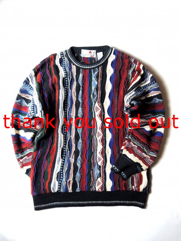 Florence Tricot 3D Cotton Knit Sweater Made in Blugaria