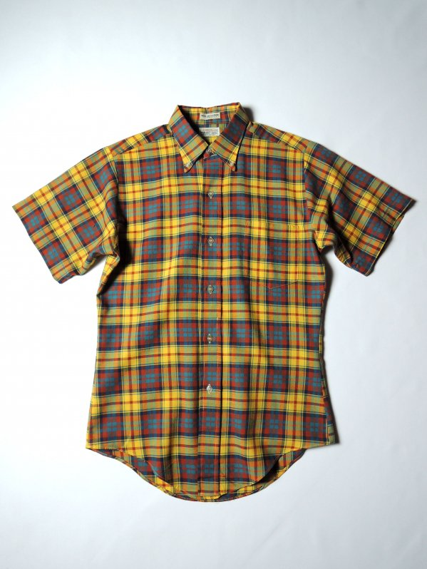 ~70's Brent Cotton S/S B/D Check Shirt