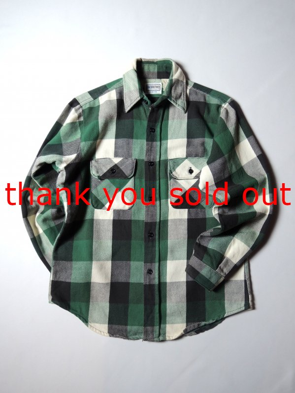 ~80's FiveBrother Cotton Flannel Check Shirt