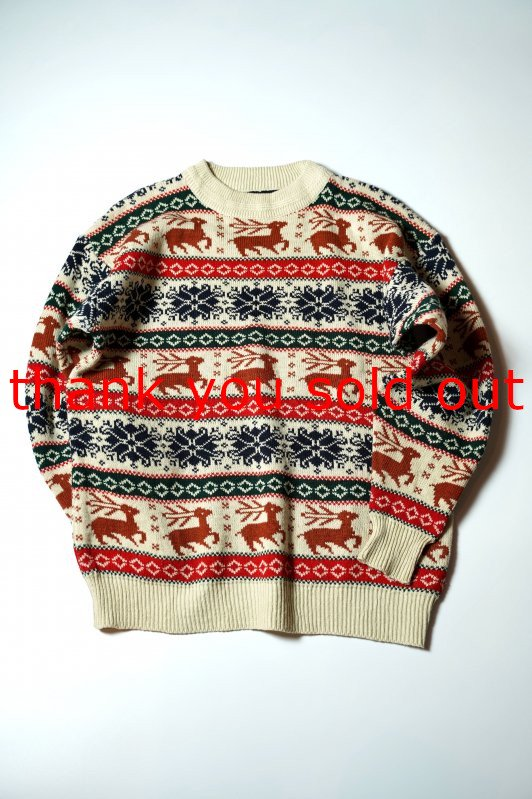Unknown Acrylic knit Nordic Sweater