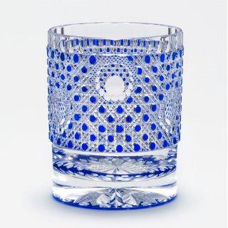 オールドグラス「花鏡籠目」