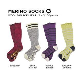 【20-21 予約商品】GREEN CLOTHING グリーンクロージング|MERINO SOCKS (メリノソックス)